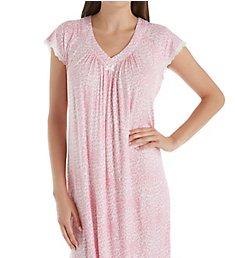 Miss Elaine Liquidknit Leopard Short Sleeve Short Gown 239438