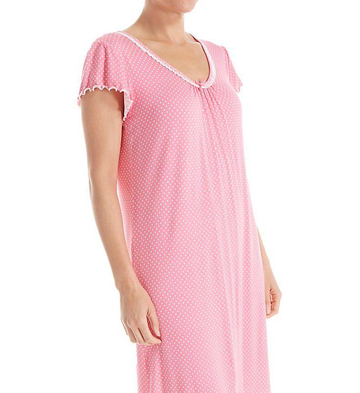 Miss Elaine Liquid Knit Short Gown 239836