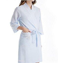 Miss Elaine Seersucker Short Wrap Robe 304657