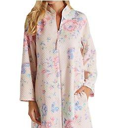 Miss Elaine Softknit Quilt-In-Knit Short Zip Robe 366447