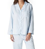 Miss Elaine Brushed Back Satin Leopard PJ Set 406117
