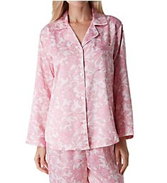 Miss Elaine Brushed Back Satin PJ Set 416107