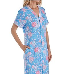 Miss Elaine Cottonessa Short Sleeve Long Zip Robe 669818