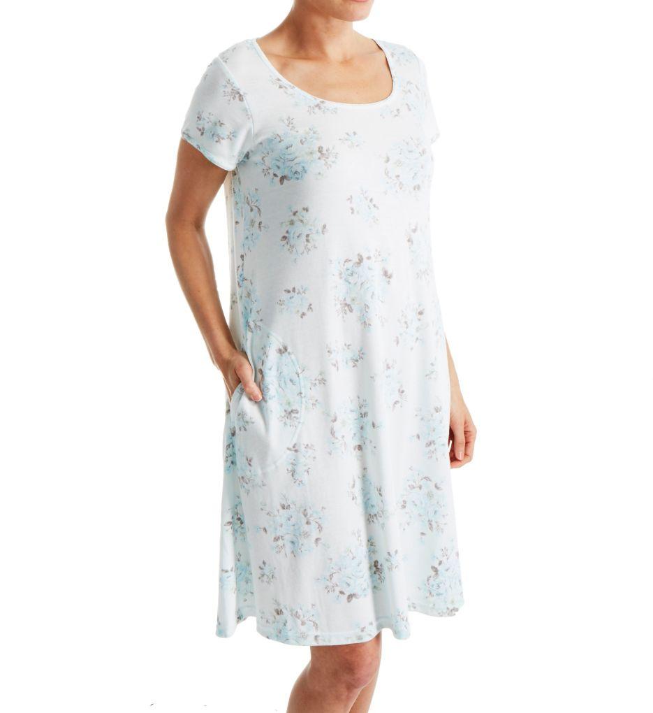 Miss Elaine Interlock Knit Short Gown 807825R