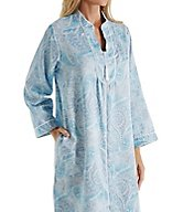 Miss Elaine Brushed Back Satin Short Zip Robe 831176