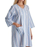 Miss Elaine Seersucker Short Zip Robe 833636