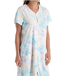 Miss Elaine Terry Floral Short Zip Robe 834009