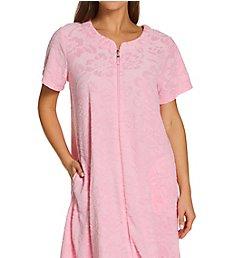 Miss Elaine Micro Terry Short Zip Robe 834011