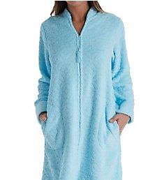 Miss Elaine Cuddle Fleece Short Zip Robe 836579