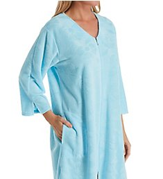 Miss Elaine Micro Terry Short Zip Robe 838009