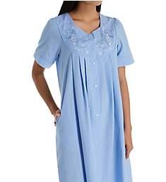Miss Elaine Seersucker Short Snap Front Robe 853618