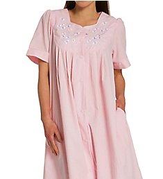 Miss Elaine Seersucker Short Snap Robe 854601