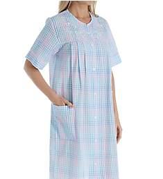 Miss Elaine Seersucker Short Button Front Coat 859648