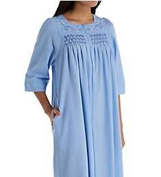 Miss Elaine Seersucker Long Zip Robe 863618