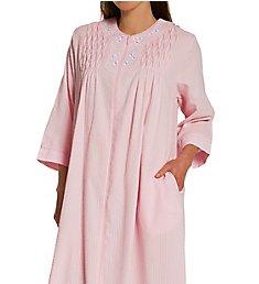 Miss Elaine Seersucker Long Zip Robe 864601