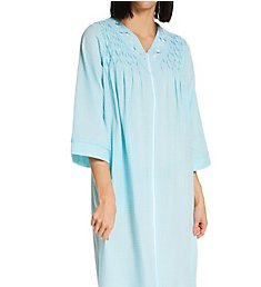 Miss Elaine Seersucker Long Zip Robe 864621