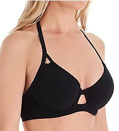 6e7da93477 Miss Mandalay Icon Underwire Halter Plunge Bikini Swim Top IC01UH