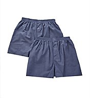 Munsingwear Cotton Woven Solid Button Fly Grip Boxer - 2 Pack KNOMW580