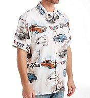 Newport Blue Camaro Roar Button Down Shirt W162527