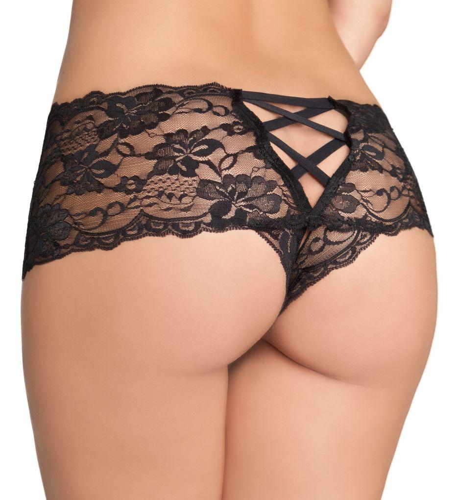 Oh La La Cheri Crotchless Lace Boyshort Panty 2025