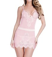 Oh La La Cheri Eyelash Lace Babydoll With G-String 3113