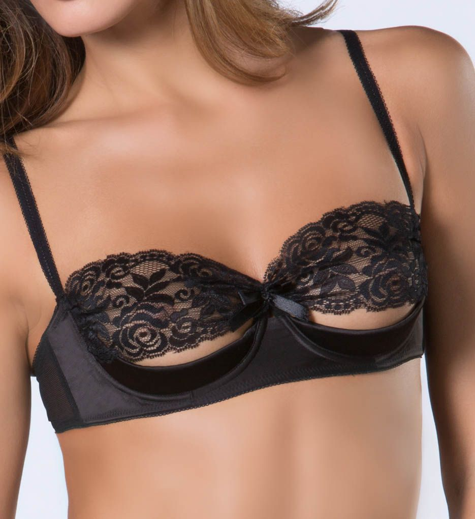 Oh La La Cheri Lace and Satin Shelf Bra 3127