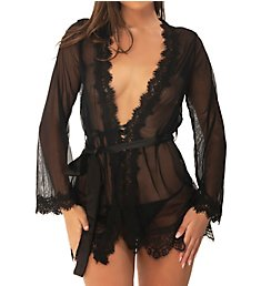 Oh La La Cheri Provence Eyelash Robe and G-String Set 9411136