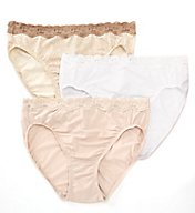 Olga Without A Stitch Lace Hi-Cut Brief Panty - 3 Pack 23067J