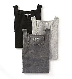 Papi Essentials 100% Cotton Square Neck Tank - 3 Pack 559102