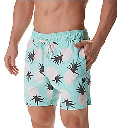 Party Pants Tropical Beaver Pineapple Print Swim Trunk PR181047