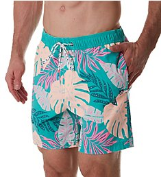 Party Pants Jux Palm Print Swim Trunk PR201182