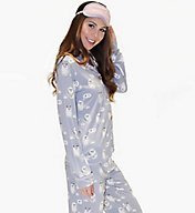 PJ Salvage Purrty Tired PJ Set with Eyemask RCPPPJ2