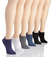 Polo Ralph Lauren Blue Label Ultra Low Flat Knit Anklet Sock - 6 Pack 727704