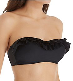 Pour Moi Fiesta Bandeau Ruffle Bikini Swim Top 37001