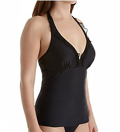Pour Moi Mesh It Up Underwire Halter Tankini Swim Top 62005