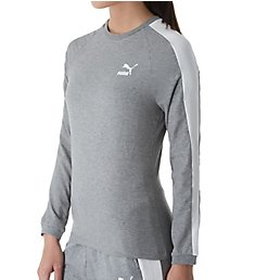 Puma Classics T7 Long Sleeve Crew Neck Logo Tee 576659