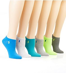 Ralph Lauren Ultra Low Flat Knit Anklet Sock - 6 Pack 727704