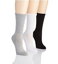 Ralph Lauren Cushioned Sole Mesh Top Crew Sock - 3 Pack 7310PK