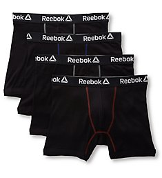 Reebok Cotton Boxer Briefs - 4 Pack 193PB11