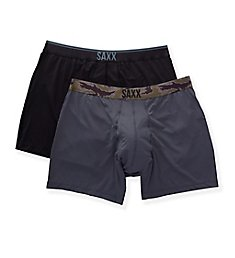 Saxx Underwear Quest Boxer Brief with Fly - 2 Pack SXPP2Q