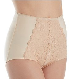 Shape Smoothing High Waist Full Brief Panty with Lace S4002