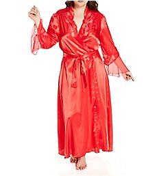 Shirley of Hollywood Plus Size Chiffon Charmeuse Long Robe X20559