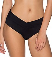 Sunsets Solid V-Front Waist Swim Bottom 31B