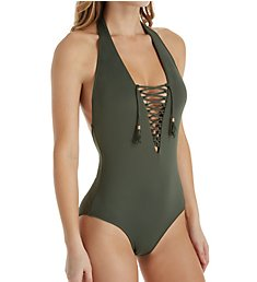 Swim Systems Rainforest Scandal Lace Up One Piece Swimsuit C101RS