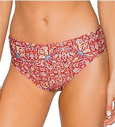 Swim Systems Turkish Twist Aloha Banded Brief Swim Bottom C247TT