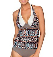 Swim Systems Arrowhead Siren Underwire Halter Tankini Swim Top C790AR
