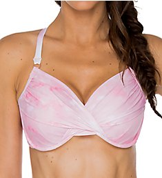 Swim Systems Pink Opal Crossroads Underwire Bikini Swim Top C794PP