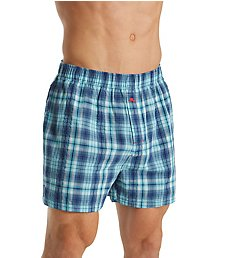 Tommy Bahama Big Man Plaid 100% Cotton Woven Boxer 2151309X