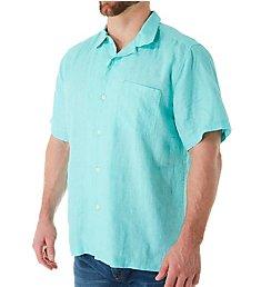 Tommy Bahama Sea Glass Breezer Short Sleeve Linen Shirt ST324636