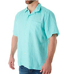 Tommy Bahama Sea Glass Breezer Short Sleeve Linen Shirt ST324636